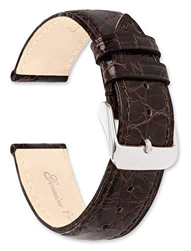 deBeer Genuine Crocodile Watch Band - Brown - 18mm - Watch Strap