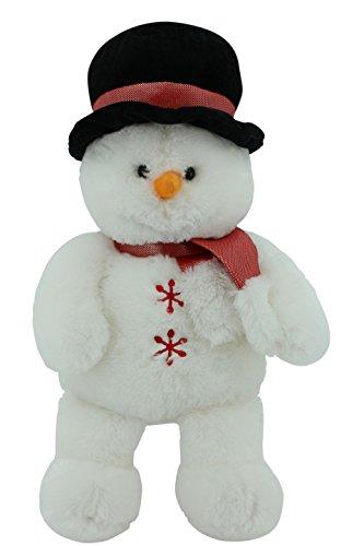 Sweety Toys 4737_rot Kuschel Schneemann Teddy XXL zum Knuddeln - ca. 65 cm lang mit Zylinder und Schal (Rot) Weihnachten