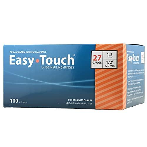 EasyTouch® U-100 27g, 1cc / mL, 1/2' (12.7mm) Box of 100