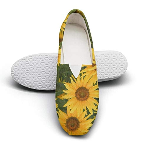 Unicorns Farting Sunflower Clipart Womens Canvas Shoes Lightweight Fashion Shoes Slip-on Sneakers Flat for Running