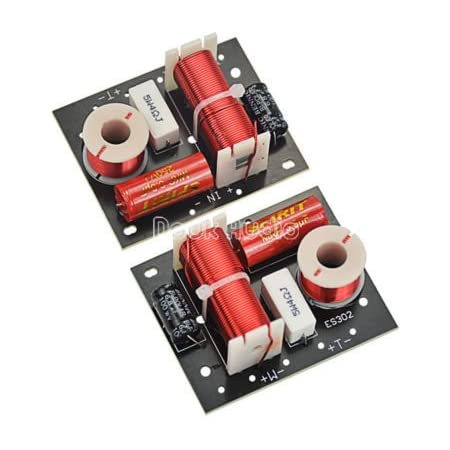 Hilitand Bass Frequency Divider 2PCS Pure Bass Audio Crossover Filters Board Frequency Distributor for 3‑8 inch Bookshelf Type Speaker