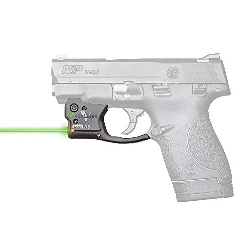 VIRIDIAN WEAPON TECHNOLOGIES 920-0005 Reactor 5 Gen II Green Laser, Smith & Wesson M&P Shield with ECR Instant On IWB Holster, Black