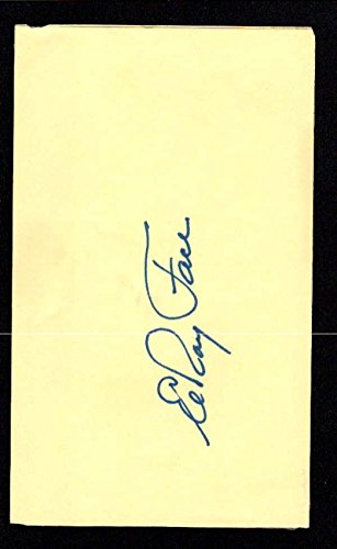 Elroy Face Pittsburgh Pirates Authentic Index Card Autograph Signature Au303 - MLB Cut Signatures