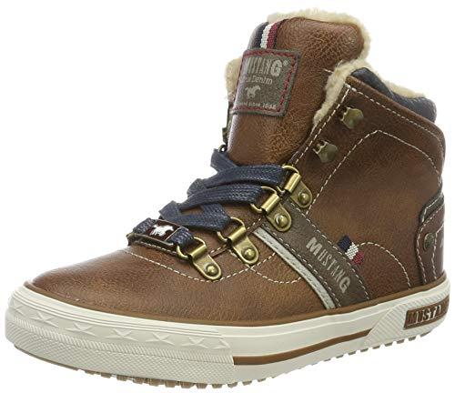 MUSTANG Unisex 5050-601-301 Hohe Sneaker, Braun (Kastanie 301), 36 EU