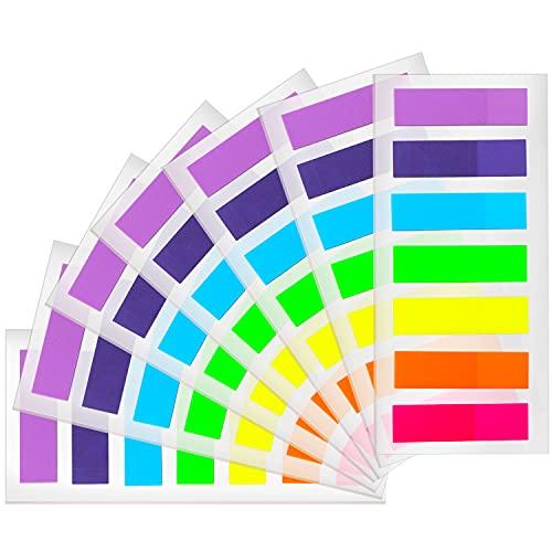 kuou 980 bandiere adesive per appunti, etichette per indici, etichette colorate, segnalibri, segnalibri, segnalibri, segnalibri, 980 pezzi