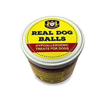 Real Dog Croquettes Friandises d'entraînement hypoallergéniques pour Chiens avec Viande de Cheval, Pommes de Terre et œufs - sans céréales, nutritives, collations Naturelles pour Chiens - 140g