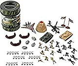 True Heroes - Military Playset - 72 Piece Set - With Storage Container -