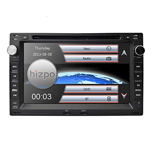 Hizpo - Radio con Pantalla táctil de 7 Pulgadas para salpicadero de Coche, Reproductor de DVD GPS para VW Volkswagen Passat Jetta CITI Chico Transporter T5 Golf Polo MK3 MK4 MK5 Seat
