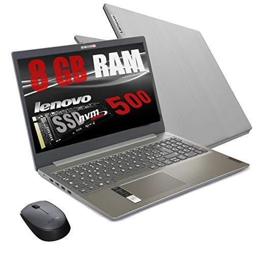 Notebook Lenovo Silver Ram 8 Gb DDR4 SSD M.2 PCi da 500Gb cpu Amd A4 3020 New Gen.  Display Hd da 15,6 pollici  Open Office 2019  web cam 3usb hdmi bt Windows 10 Pro  Pronto All uso + Mouse Wifi