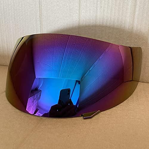 Adecuado K3 / K4 Visera de la Cara Llena Casco de la Motocicleta del Visera Aptos para la AGV K3 / K4 Casco Moto Lente Escudo Capacete Parabrisas Cascos Accesorio (Color : Rainbow)