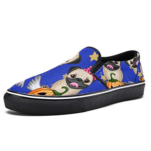 Tizorax - Zapatos de lona para montar con alas de calabaza, para hombres y niños, zapatos planos para barco, color Multicolor, talla 39 1/3 EU