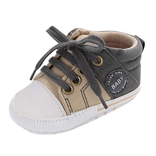 Zapatos de Lona para Unisex Bebé Niños Niñas Otoño Invierno PAOLIAN Calzado de Primeros Pasos Suela Blanda Antideslizante Zapatillas Regalo de recién Nacidos Bautizo Fiesta 0-18 Meses