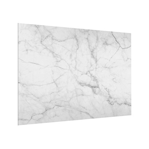 Bilderwelten Panel antisalpicaduras de Cristal - Bianco Carrara - Horizontal 3:4, Panel...