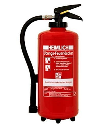 9Liter Wasser Übungslöscher wiederbefüllbar mit Druckluft Trainings- und Schulungs-Feuerlöscher für Ausbildung Brandschutzhelfer von MBS-FIRE