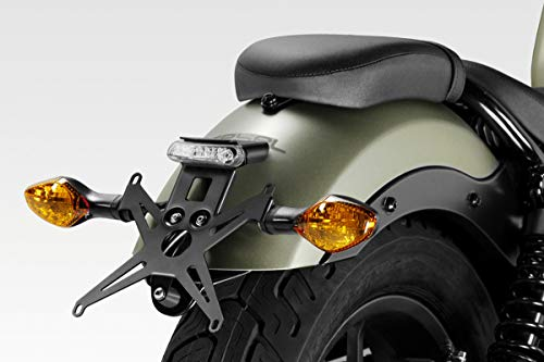 CMX500 / CMX300 Rebel 2017/19 - Kit Soporte de Matrícula (S-0805) - Placa Portamatrículas - Luz LED y Tornillería Incluido - Accesorios De Pretto Moto (DPM Race) - 100% Made in Italy