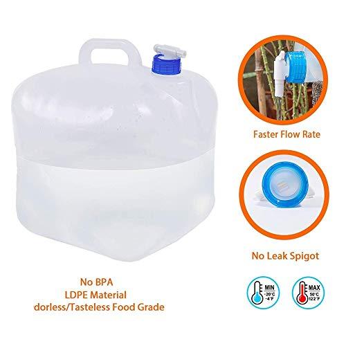 WZYEU Bidón de Agua Plegable Portátil,Bolsa de Agua Potable Coche de contenedores,Recipiente...