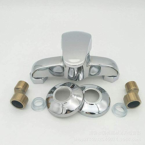 Grifos de lavabo Grifería de doble manija dorada retro Cuello de cisne de un solo orificio Elegante grifo mezclador de lavabo Residencial