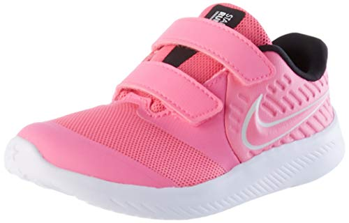 Nike Jungen Unisex Kinder AT1803-603-6C Laufschuh, Pink Glow Photon Dust Black White, 22 EU