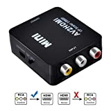 Convertisseur RCA vers HDMI, 1080p AV vers HDMI CVBS AV vidéo Composite Adaptateur...