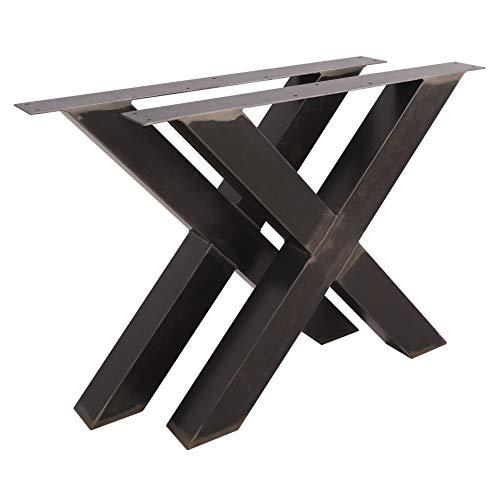 1 PAAR Tischgestell X Form BestLoft® transparent Tischbeine Tischkufen Tischfüße Kufengestell (Höhe:72cm x Breite:85cm)