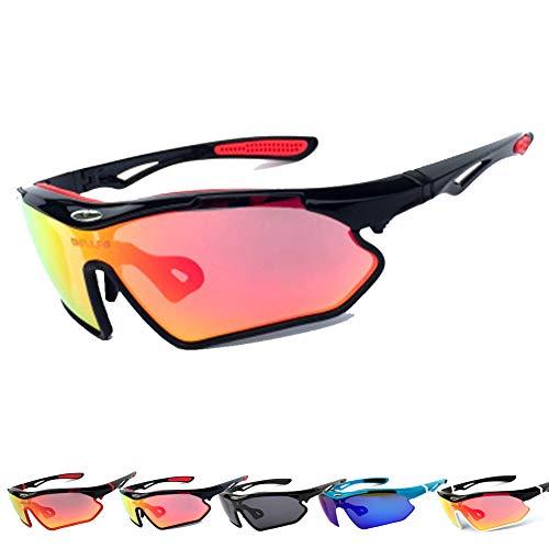 KuaiKeSport Gafas Ciclismo Hombre y Mujer, Gafas MTB Ligero y Cómodo Protección Anti-UV,Gafas de Seguridad para Ciclismo Pesca Bicicleta Montañismo