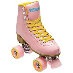 Our skates are made from high quality components, so you can feel good skating the streets or rink with your girl gang. PVC Upper, heel and sole ? Metal speed lace eyelets Aluminium alloy trucks and baseplate ? 58mm 82a durometer nylon core urethane ...