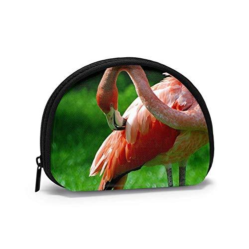 Mini-Aufbewahrungstasche, Muschel-Geldbörse, kleine Tasche, tragbare Brille, Flamingo, Gras, Geldbörse, Schmucktasche, Kosmetiktasche