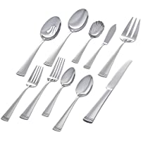 Stone & Beam 45-Piece Flatware Set, Service for 8 (Dotted Trim)