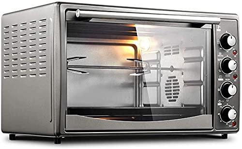 ZJDM Ajuste de Temperatura del Mini Horno de 45L 65-250 ℃ y Temporizador de 60 Minutos 5 Funciones de cocción y 3 Funciones de horneado Puerta de Vidrio Templado de fermentación a Baja temperatur