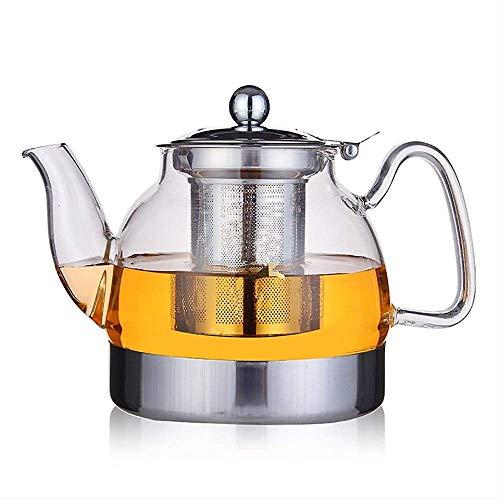 800 ml roestvrij staal veiligheidsbase hittebestendig glas teapot, kettle, kan worden verwarmd door inductie kookplaat, gas stove