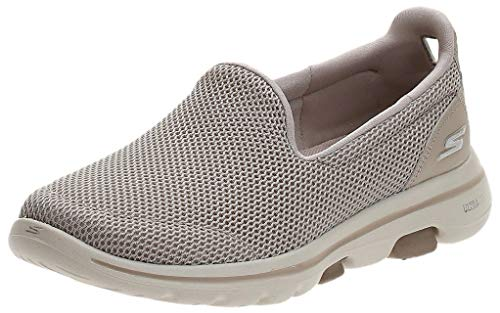 Skechers Women's GO Walk 5-15901 Sneaker, Taupe, 7 M US