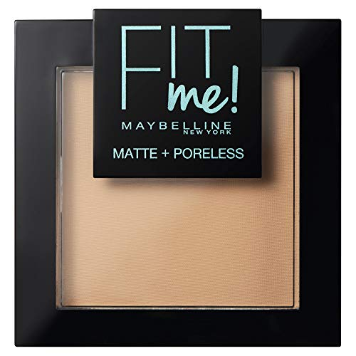 Maybelline New York Fit Me - Polvos Compactos Matificantes y Sin Brillos, Tono 220 Natural Beige