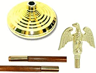 WindStrong® Indoor Flagpole Kit Parade Set With Eagle, 8ft Oak Pole and Tassel No Flag Included