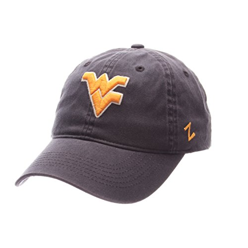 NCAA Zephyr West Virginia Mountaineers Mens Scholarship Relaxed Hat, Adjustable, Team Color