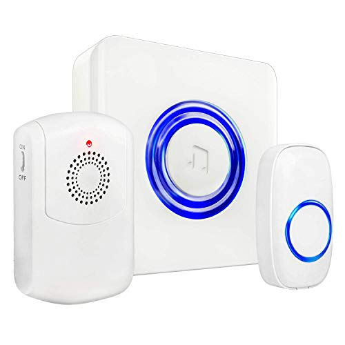 Wireless Caregiver Call Button System - Medical Alert System for Seniors & Elderly Care - Caregiver Pagers and Beepers w/Flashing LED for Hearing Impaired, Belt Clip, Vibrating Receiver, Transmitter