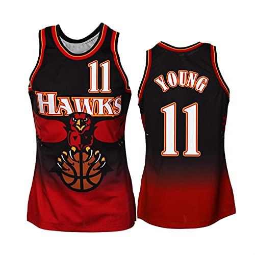 GFQTTY Camiseta De Baloncesto, Atlanta Hawks # 11 Swingman Jersey Camiseta Clásica Retro Cómodo Ligero Transpirable All-Stars Uniforme Unisex
