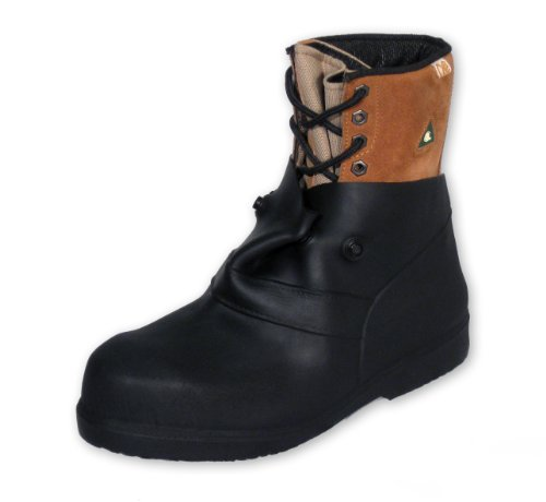 Overboots, L, Pull On, 6in H, Blk, PR