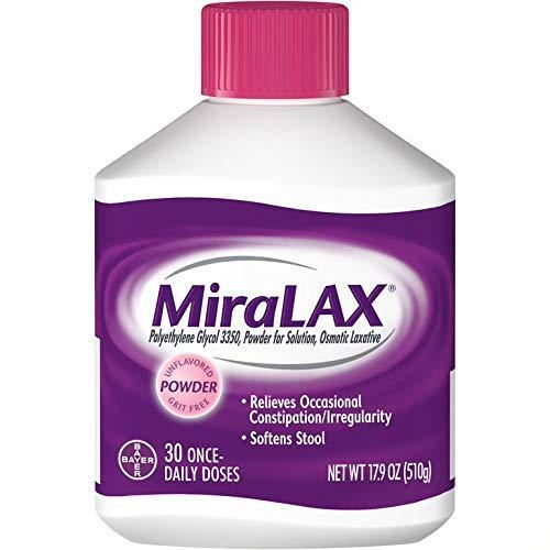 MiraLAX Powder 30 doses 17.09oz (Pack of 2)