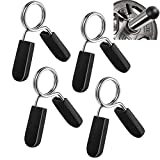 Lestino 1 inch (25 mm) Spring Clip Collars (Pack of 4), Exercise Collars Barbell Clamps for Standard 1 inch Smooth Weight Bar, Curl Bar and Dumbbell Handle (Non-Threaded)