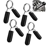 Lestino Spring Clip Collars, 1 inch (25 mm) for Smooth Dumbbell Handle or Standard Weightlifting Barbell (Pack of 4)