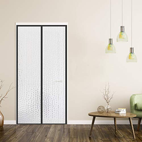 YUFER Magnetic Thermal Insulated Curtain 38×82,EVA Thermal Door Cover - Thermal Screen Door for Air Conditioner Heater Room Home Kitchen Fits Doors Up to 38' x 82' MAX