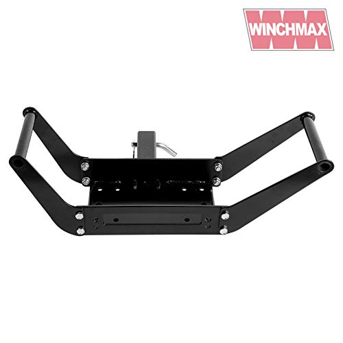 Winchmax Mobile Winch Mount 2 inch Receiver Hitch Winch Mounting Plate
