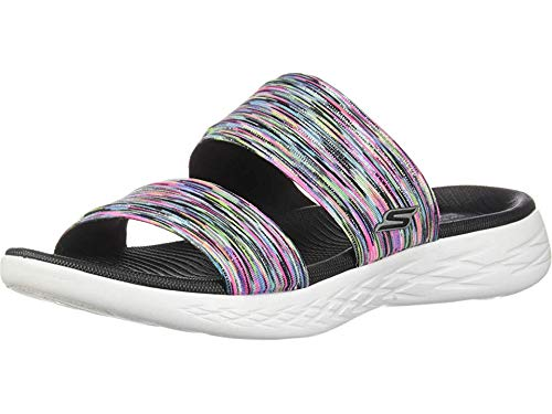 Skechers Women's ON-The-GO 600-BEDAZZLING Slide Sandal, Multi, 5 M US