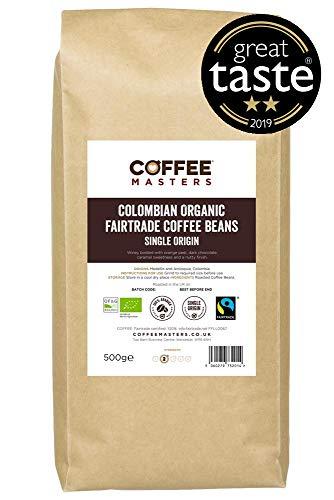 Coffee Masters Granos de Café Ecológicos de Comercio Justo Colombiano de 1kg - Ganador Del Premio Great Taste 2019