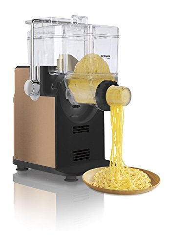 Deutsch PAM-281GD Chewiness 180 W Italienisch Ravioli Attachment Spaghetti, Fettuccini, Linguini, Rigatoni Tagliatelle, Capellini und orientalische Nudeln Nudelmaschine White & Golden
