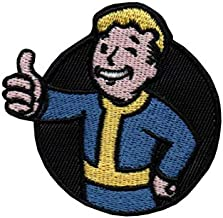 Iron on Patches - Fallout Vault boy Thumbs up Iron-on sew-on Patch Applique 100% Embroidery K-8