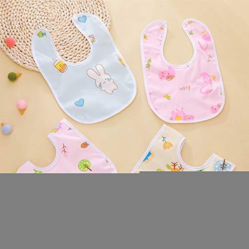 SSJY Baberos Bebe Impermeables,Toalla de Saliva Impermeable Bolsillo de Saliva Toalla de Saliva de Dibujos Animados Espalda Impermeable Adecuado para niños/niñas Desde recién Nacidos hasta 3 años.