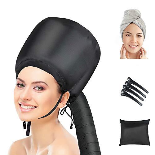 Bonnet Hood Hair Dryer Attachment,Heatigo 2020 Upgraded Version Soft Cap...