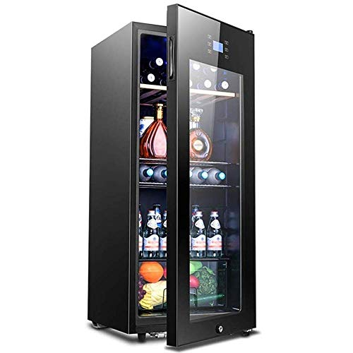 Multifunctional Wine Refrigerator, Stainless Steel Refrigerator and Silent Operation Compressor, Refrigerator Countertop Glass Door Quiet,energy saving
