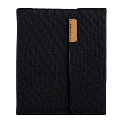 Rocketbook Flip Capsule Folio Cover - 100% Recyclable Cover with Pen Holder, Magnetic Clasp & Inner Storage - Black, Executive Size (6' x 8.8')